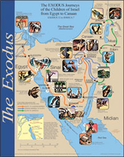 The Exodus Wall Map Laminated