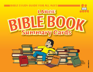Bible Book Summary Cards, Large - Bible Study Guide for All Ages - 8.5 x 11