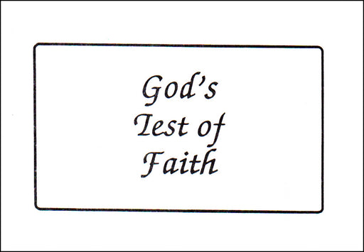 God's Test of Faith