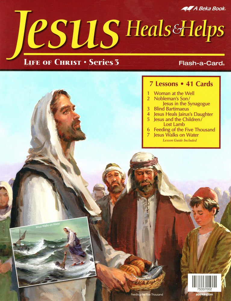 Jesus Heals and Helps (Life of Christ Series 3) - A Beka Flash-A-Cards