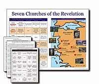 Seven Churches of Revelation Wall Chart Unlaminated