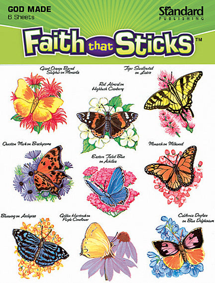 God's Beautiful Butterflies Stickers