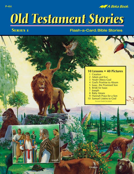 Old Testament Stories Series 1 Abeka Flash-A-Card Bible Stories - Book Format