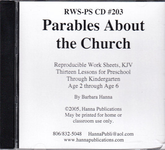 Parables About The Church CD