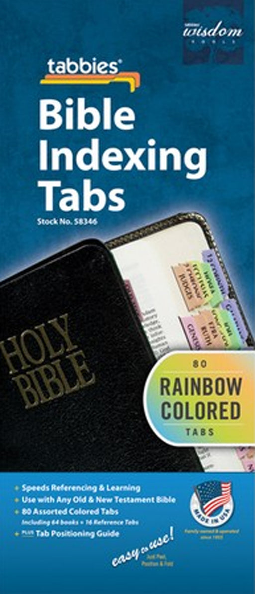 Tabbies Rainbow Bible OT & NT Bible Indexing Tabs
