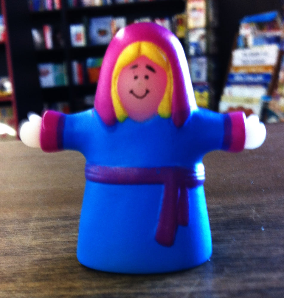 Finger Puppet - Woman (Blue)