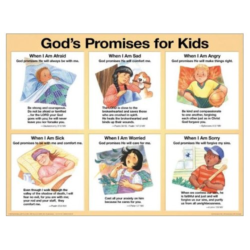 God's Promises For Kids-Laminated