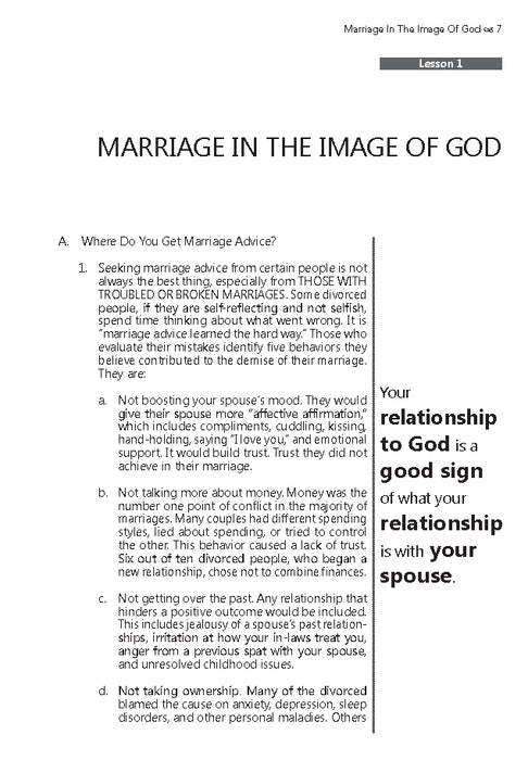 Marriage: A Reflection of God's Image