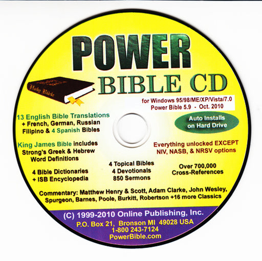 Power Bible CD ROM