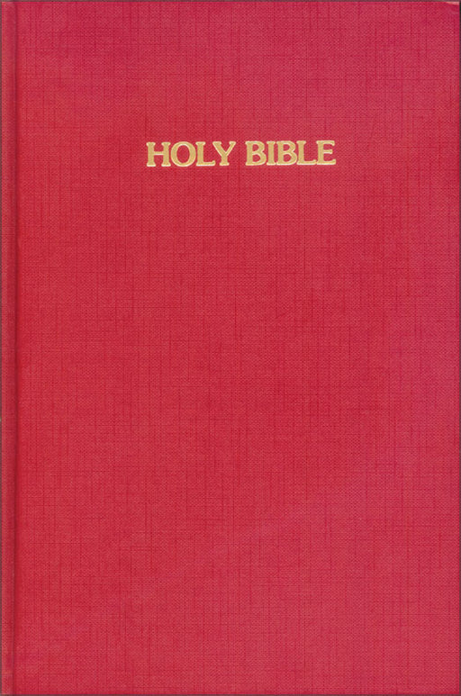 KJV Pew Bible Red Hardback