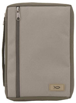 Bible Cover - Khaki/Olive Canvas - Large