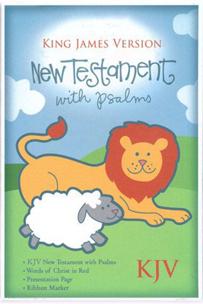 KJV Baby New Testament with Psalms, White