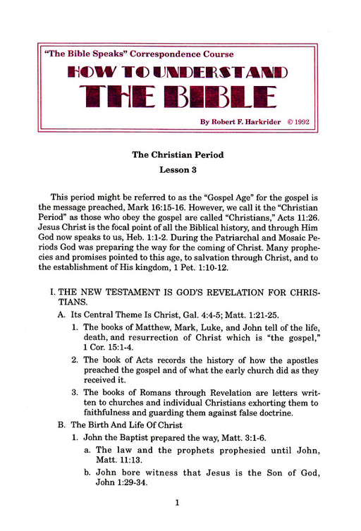 How to Understand the Bible CC Lesson 3