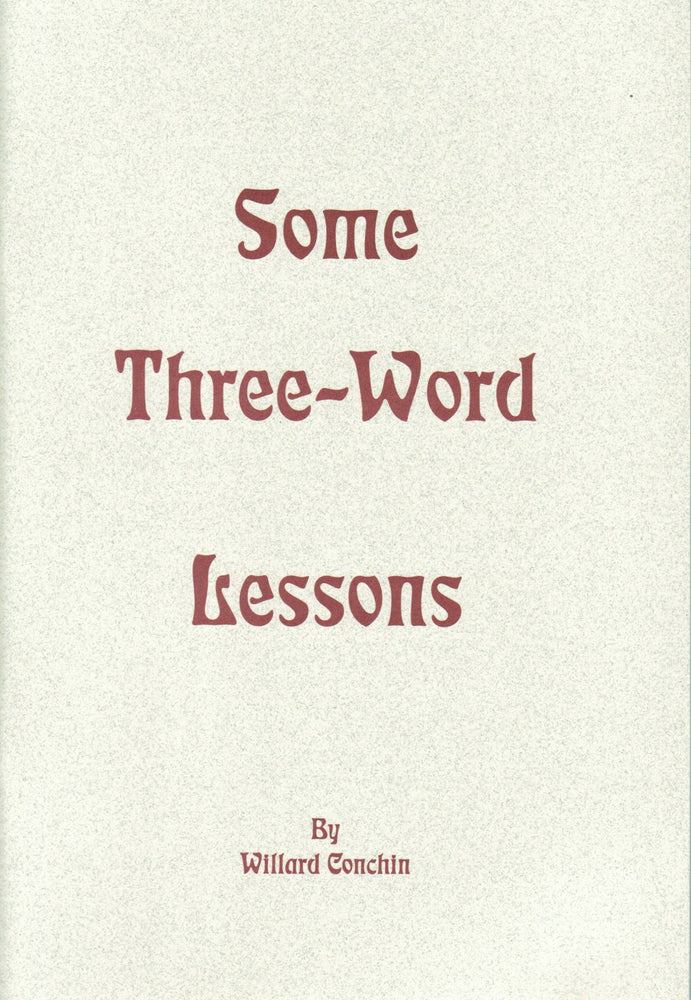 Some Three-Word Lessons