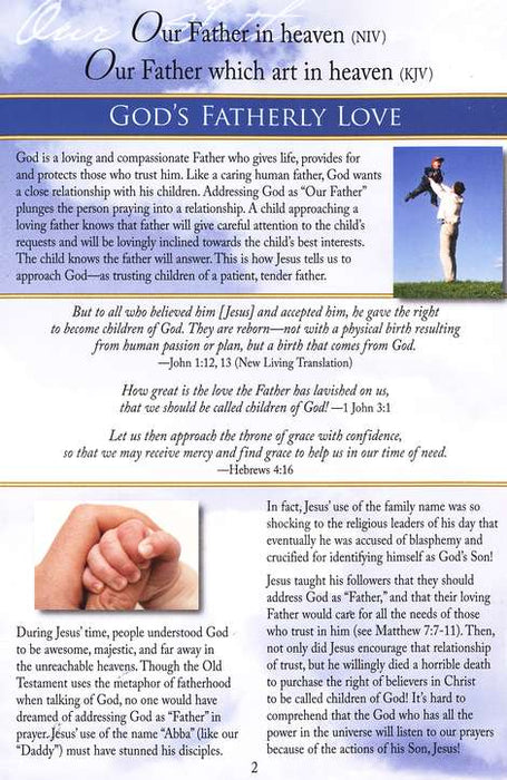 Lord's Prayer Pamphlet