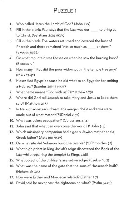 Bible Cues & Clues: 101 Word Search Puzzles Test Your Bible Knowledge