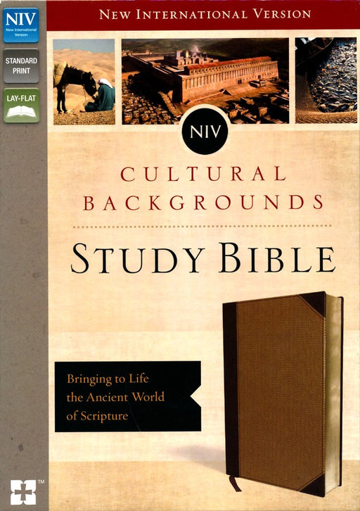 NIV Cultural Backgrounds Study Bible Brown/Tan DuoTone