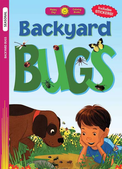 Backyard Bugs Coloring Book & Stickers