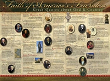 Faith of America's Founders Unlaminated Wall Chart