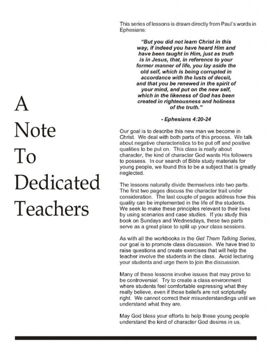 Note To Dedicated Teachers