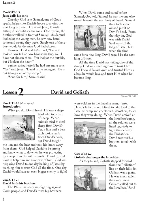 Old Testament Stories Series 2 Abeka Flash-A-Card Bible Stories - Book Format