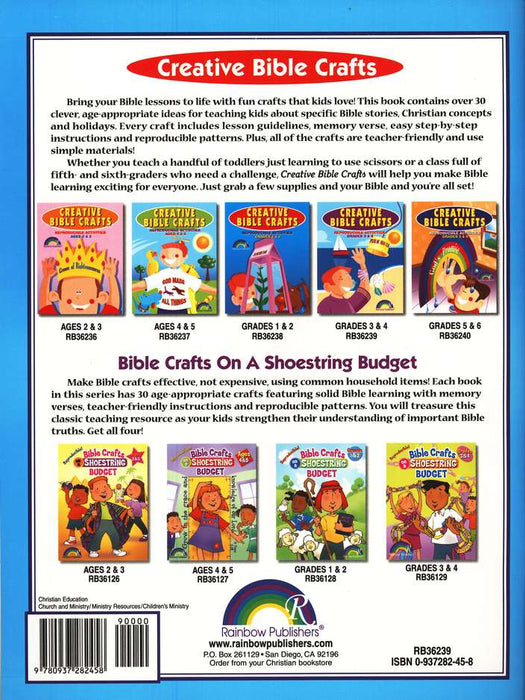 Creative Bible Crafts Grades 3 4 One Stone Biblical Resources