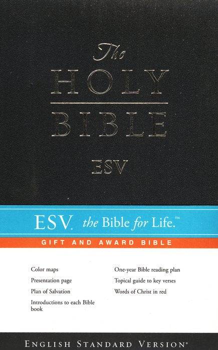 ESV Gift & Award Bible - Black Imitation Leather