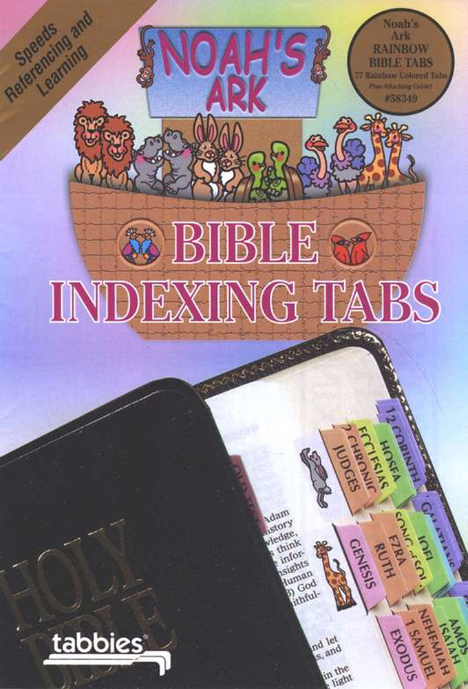 Tabbies Noah's Ark Rainbow OT & NT Bible Indexing Tabs