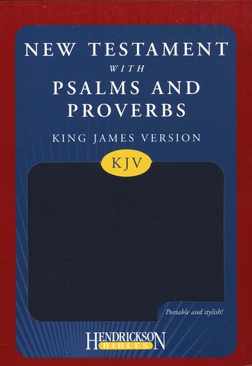 KJV New Testament Bible with Psalms and Proverbs Blue Flexisoft