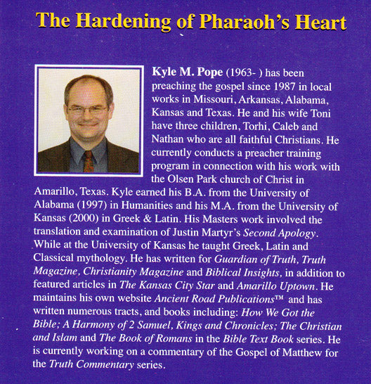 The Hardening of Pharaoh's Heart Booklet