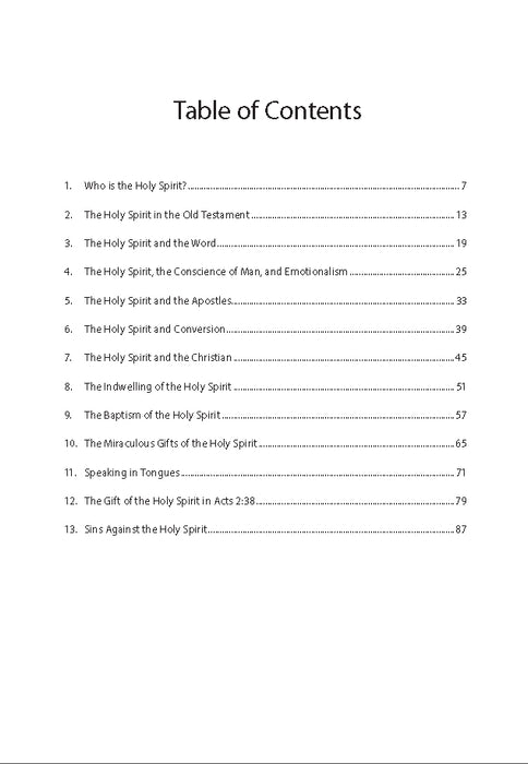 The Holy Spirit - Downloadable Congregational Use PDF