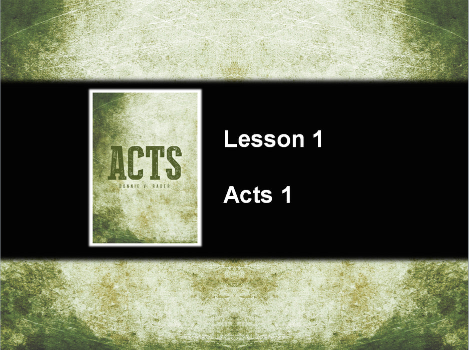 Acts - Downloadable PowerPoint Presentation