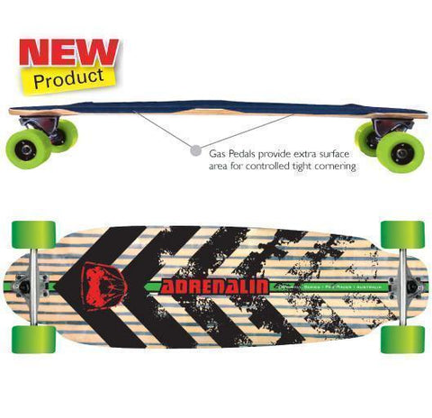 "Adenalin Skate 440161     ~ GTR RACER 36"" D-H SKATEBOARD New zealand nz vaughan"