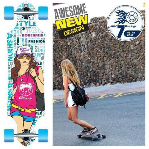 Adenalin Skate 440165     ~ DROP THRU 36 GIRL   SKATEBOARD New zealand nz vaughan