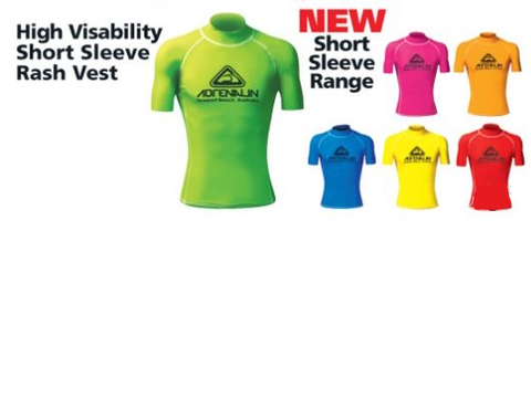 Adrenalin MULTI-ITEM 4220197    ~ RASHIE VIVID SHORT SLEEVE JR LIME New zealand nz vaughan