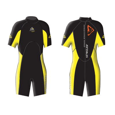 Adrenalin MULTI-ITEM 42221166   ~ AQUASPORT JNR SPRING SUIT YELLOW New zealand nz vaughan