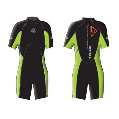 Adrenalin MULTI-ITEM 42221167   ~ AQUASPORT JNR SPRING SUIT LIME New zealand nz vaughan