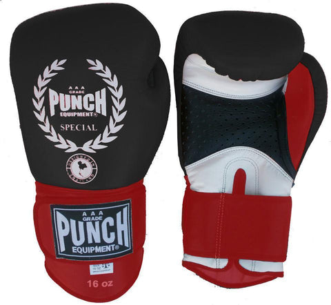 Punch Equipment 902615     ~ SPECIAL TRICOLOUR GLOVES 16oz New zealand nz vaughan