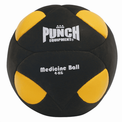 Punch Equipment 90871      ~ MEDICINE BALL YEL/BLK 4KG New zealand nz vaughan
