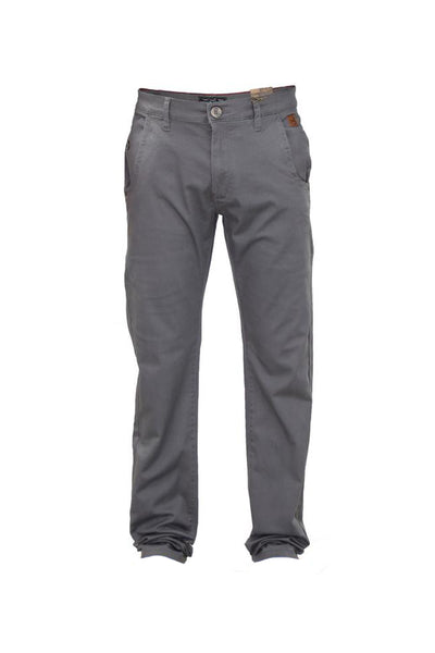 Pantaloni chino Jack South barbati, gri, marimea 32 UK