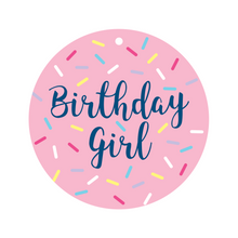 Load image into Gallery viewer, Birthday Girl Collar Dot Front