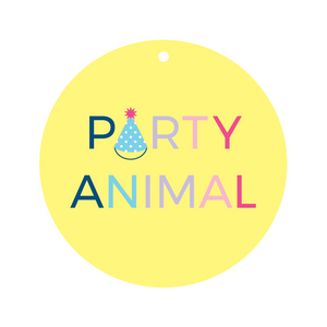 Party Animal Collar Dot Front