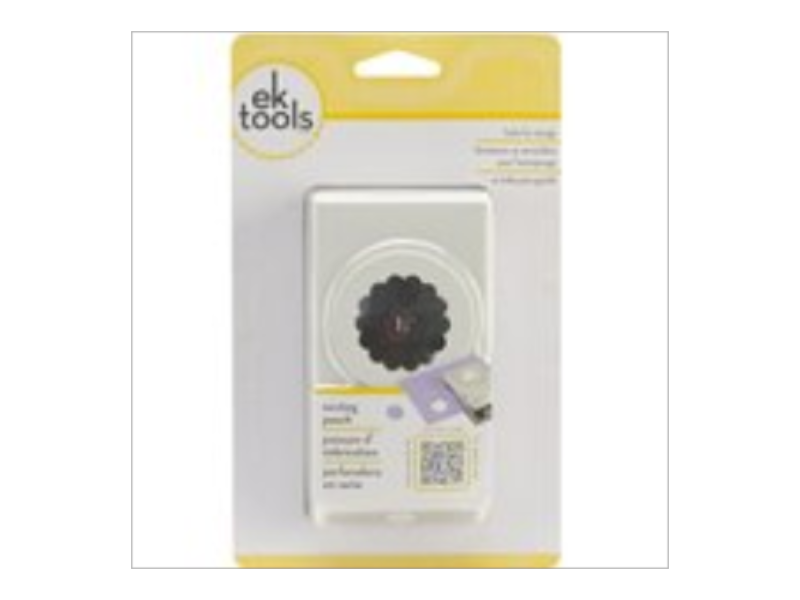 EK Tools Circle Punch, 1.25-Inch Scalloped Edge