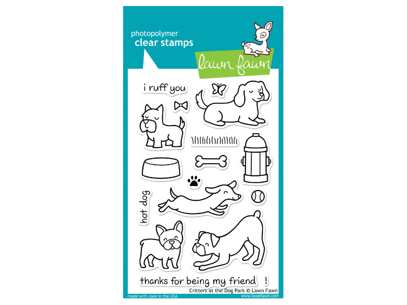 Lawn Fawn Critters at  the Dog Park Cling Stamps
