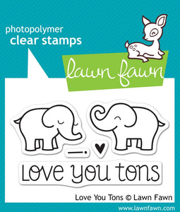 Lawn Fawn Love You Tons Cling Stamps