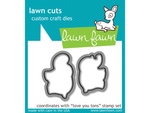 Lawn Fawn Love you Tons Lawn Cuts