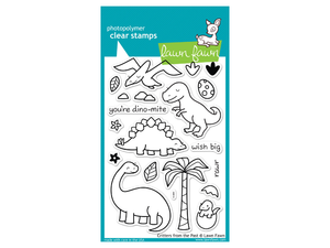 Lawn Fawn Critters from the Past Cling Stamp Set