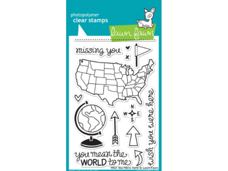 Lawn Fawn Wish You Were Here Cling Stamp