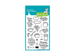 Lawn Fawn Love you Latte Cling Stamp Set