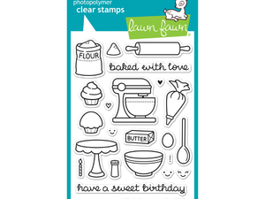 Lawn Fawn Baked with Love Cling Stamps